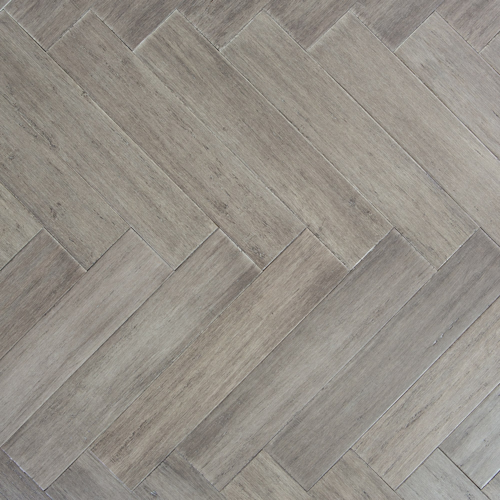 Stone Grey Strand Woven 90mm Parquet Block Bona Coated Bambo