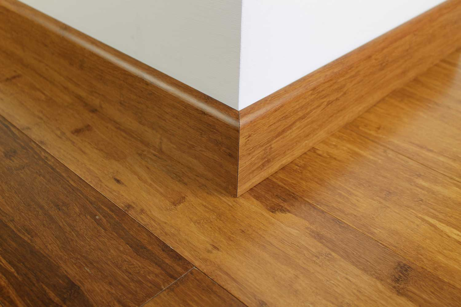 Brushed Carbonised Strand Woven Bamboo 92mm Skirting 1850mm