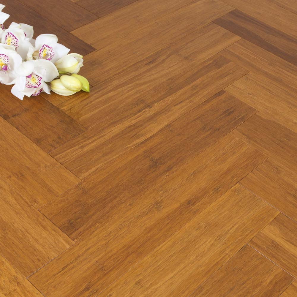 Solid Carbonised Strand Woven 90mm Parquet Block BONA Coate