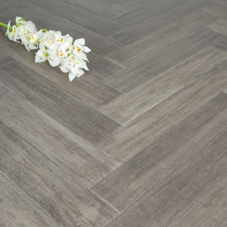 Solid Stone Grey Strand Woven 90mm Parquet Block BONA Coated Bamboo Flooring 1.134m²