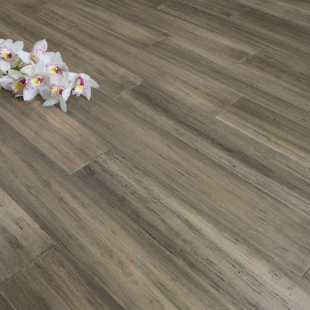 Solid Antique Taupe Strand Woven 125mm Click BONA Coated Bamboo Flooring 2.29m²