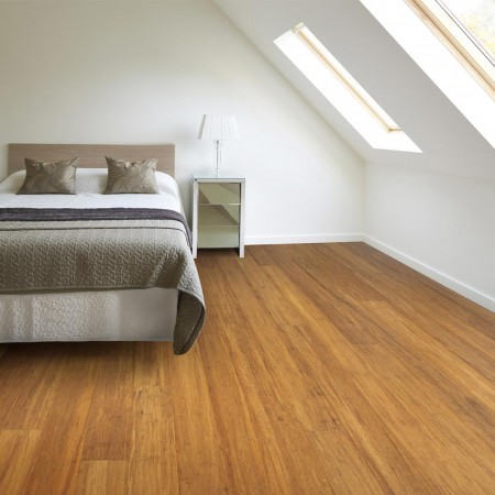 Solid Brushed Carbonised Strand Woven 135mm Uniclic® BONA Coated Bamboo Flooring 1.5m²