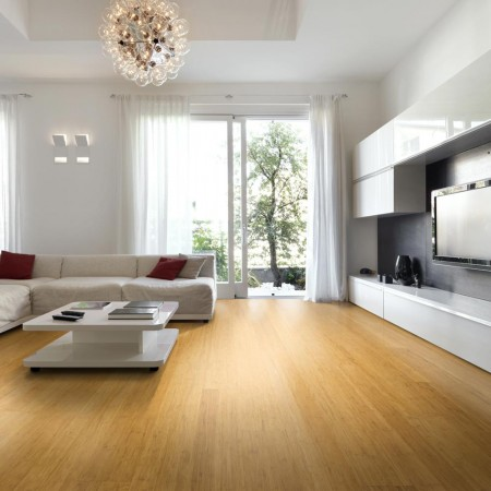 Engineered Natural Strand Woven 190mm Uniclic® BONA Coated Bamboo Flooring 2.81m² per pack FSC1