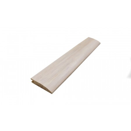 Ivory White Strand Woven Bamboo 10mm Door Bar / Flush Reducer