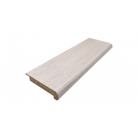Ivory White Strand Woven Bamboo Lip Over 10mm Stair Nosing