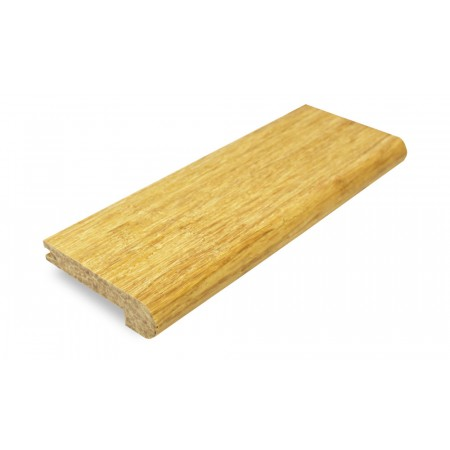 Brushed Natural Strand Woven Bamboo 14mm Stair Nosing 1850mm