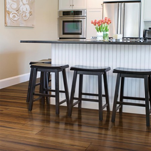 Solid Rustic Carbonised Strand Woven Bamboo Flooring 135mm Uniclic® BONA Coating 1.5m² per pack FSC1