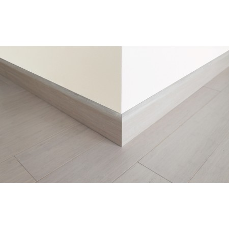 Ivory White Strand Woven Bamboo 92mm Skirting 1850mm