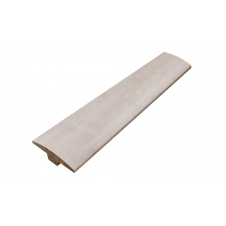 Ivory White Strand Woven Bamboo Door Bar / T Moulding