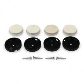 Screw In Felt Pads - Set of 4 - Large (30mm diameter)
