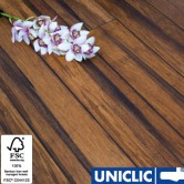 Rustic Carbonised Strand Woven Bamboo Flooring 135mm Uniclic® BONA Coating 1.5m2 per pack FSC1