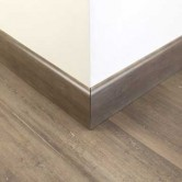 Stone Grey Strand Woven Bamboo 92mm Skirting 1850mm