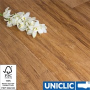 Engineered Carbonised Strand Woven 190mm Uniclic BONA Coated Bamboo Flooring SAMPLE