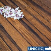 F1043 Rustic Carbonised Strand Woven 135mm Uniclic BONA Coated Bamboo Flooring SAMPLE - First 6 samples are free.
