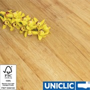 Solid Natural Strand Woven 135mm Uniclic BONA Coated Bamboo Flooring SAMPLE