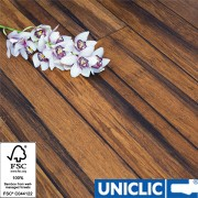 Rustic Carbonised Strand Woven 135mm Uniclic BONA Coated Bamboo Flooring SAMPLE