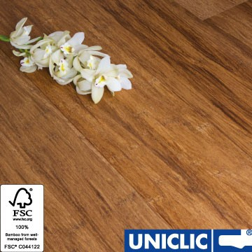 Engineered Carbonised Strand Woven 190mm Uniclic® BONA Coated Bamboo Flooring 2.81m² FSC1