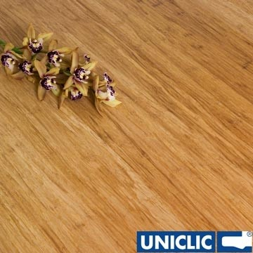 Engineered Natural Strand Woven 190mm Uniclic® BONA Coated Bamboo Flooring 2.81m²