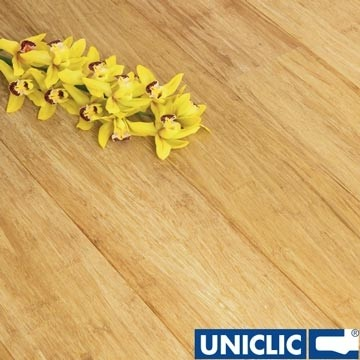 Solid Natural Strand Woven 135mm Uniclic® BONA Coated Bamboo Flooring 1.5m²