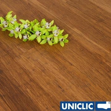 Solid Carbonised Strand Woven 135mm Uniclic® BONA Coated Bamboo Flooring 1.5m²