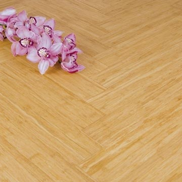 Solid Natural Strand Woven 90mm Parquet Block BONA Coated Bamboo Flooring 1.134m²