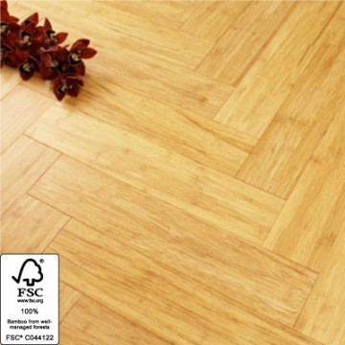 Solid Natural Strand Woven 90mm Parquet Block BONA Coated Bamboo Flooring 1.134m² FSC1