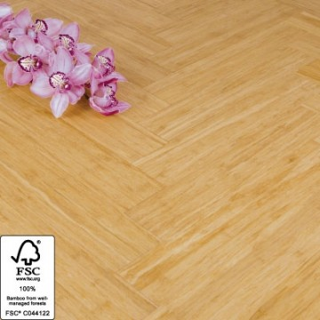 Solid Natural Strand Woven 90mm Parquet Block BONA Coated Bamboo Flooring 1.134m² FSC1