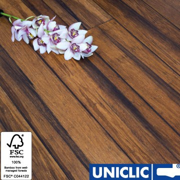 Solid Rustic Carbonised Strand Woven 135mm Uniclic® BONA Coated Bamboo Flooring 1.5m² FSC1