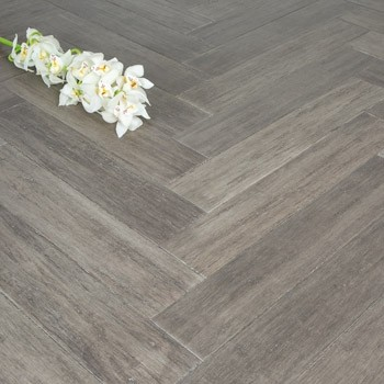 Stone Grey Strand Woven 90mm Parquet Block BONA Coated Bamboo Flooring 1.134m²