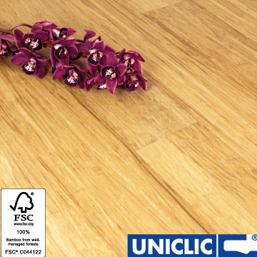Solid Brushed Natural Strand Woven 135mm Uniclic® BONA Coated Bamboo Flooring 1.5m² FSC1