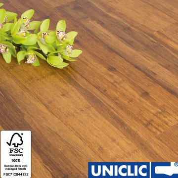Solid Carbonised Strand Woven 125mm Click BONA Coated Bamboo Flooring 2.29m² FSC1