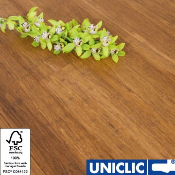 Solid Carbonised Strand Woven 135mm Uniclic® BONA Coated Bamboo Flooring 1.5m² FSC1