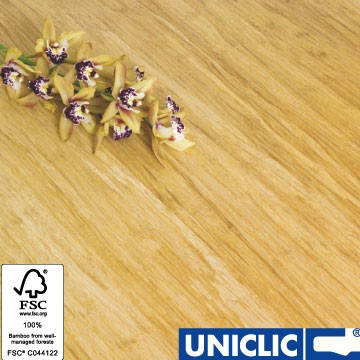 Engineered Natural Strand Woven 190mm Uniclic® BONA Coated Bamboo Flooring 2.81m² FSC1
