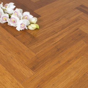 Solid Carbonised Strand Woven 90mm Parquet Block BONA Coated Bamboo Flooring 1.134m²