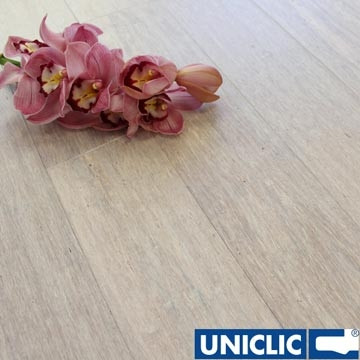 Solid Pebble Strand Woven 125mm Click BONA Coated Bamboo Flooring 2.29m²