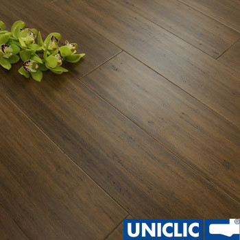Solid Autumn Hazelnut Strand Woven 125mm Click BONA Coated Bamboo Flooring 2.29m²