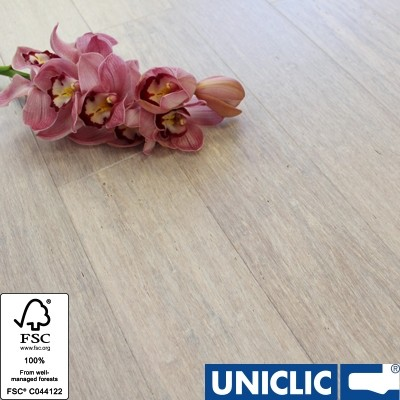 Solid Pebble Strand Woven 125mm Click BONA Coated Bamboo Flooring 2.29m² FSC1