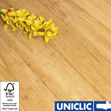 Solid Natural Strand Woven 135mm Uniclic® BONA Coated Bamboo Flooring 1.5m² per pack FSC1