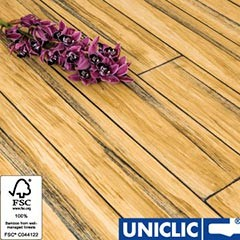 Solid Rustic Natural Strand Woven 135mm Uniclic® BONA Coated Bamboo Flooring 1.5m² FSC1