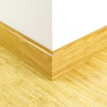 Brushed Natural Strand Woven Bamboo 92mm Skirting 1850mm