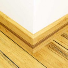 Rustic Natural Strand Woven Bamboo 92mm Skirting 1850mm