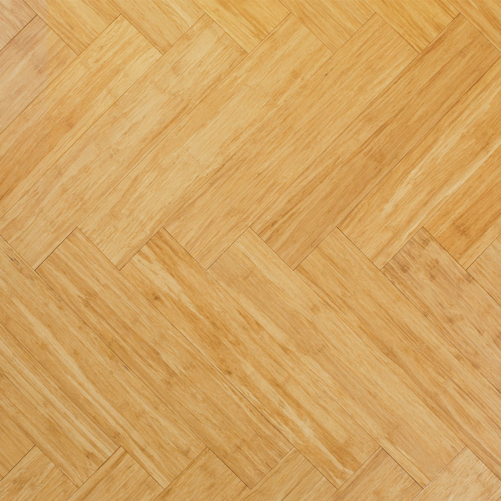 Solid Natural Strand Woven 90mm Parquet Block Bona Coated Ba