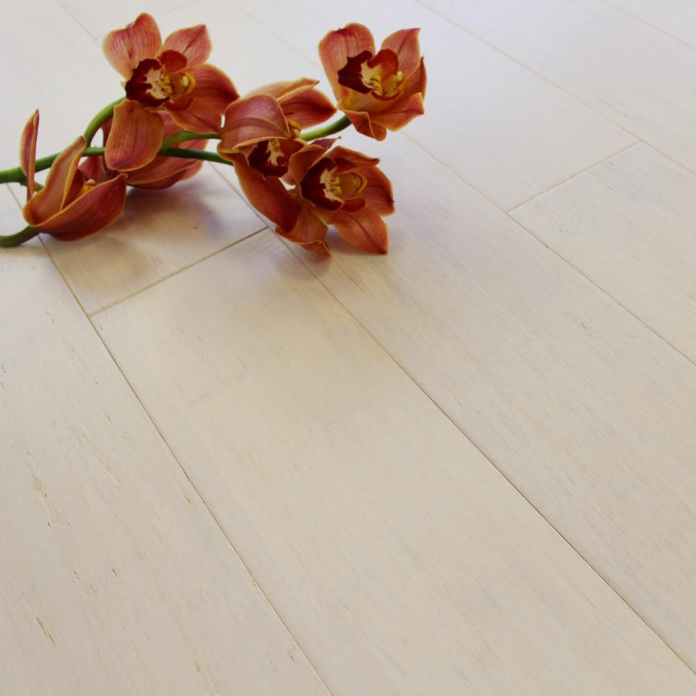 Solid Ivory White Strand Woven 125mm Click BONA Coated Bamboo Flooring 229m FSC1  2