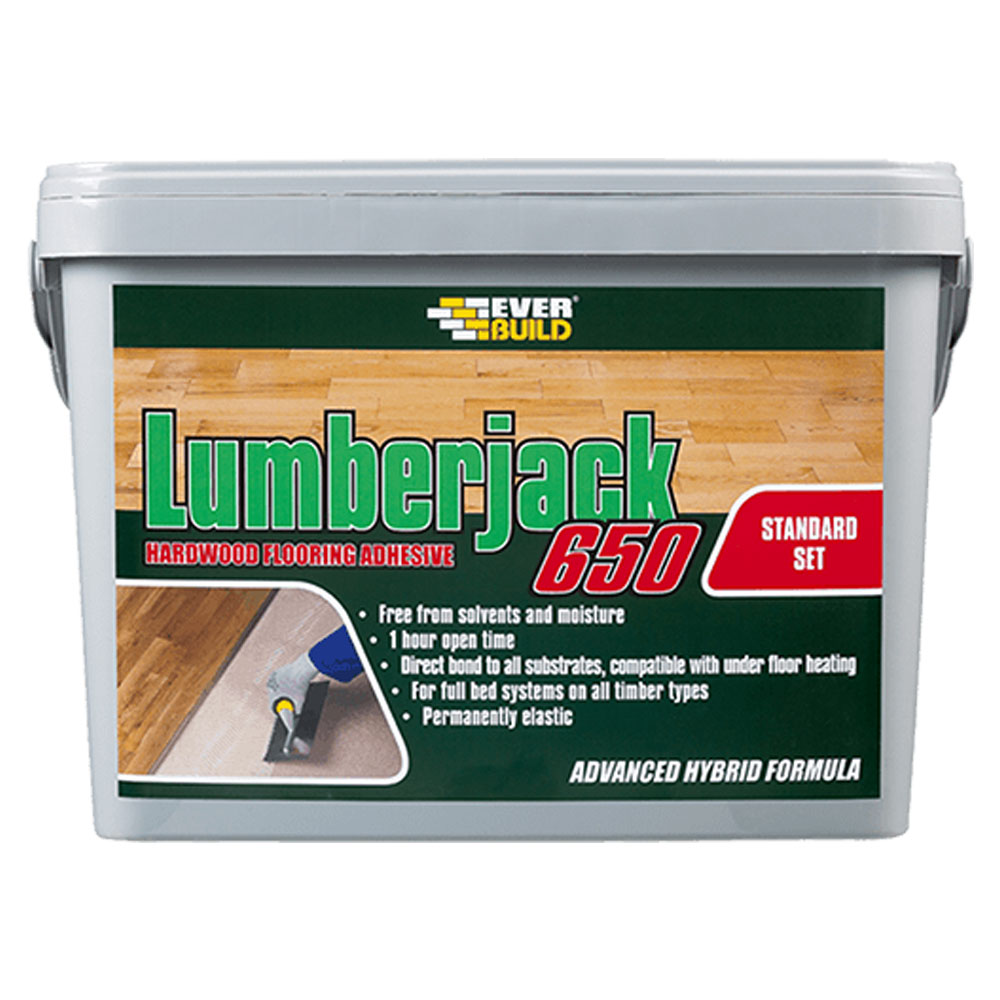Ever Build Lumberjack 650 14kg Flexible Wood Flooring Adhesive   1