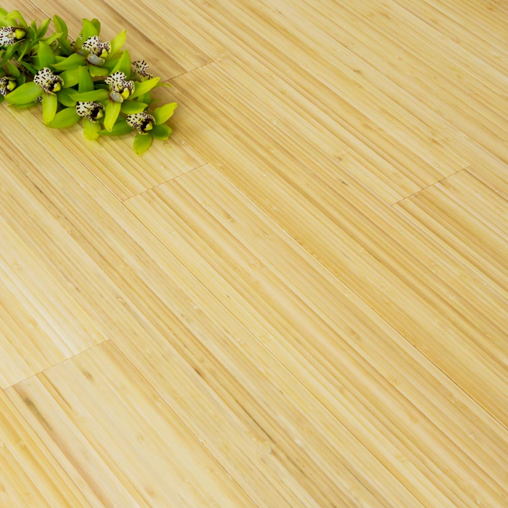 ... Solid Natural Vertical Bamboo Flooring Glue Down Only 2.21m² - 2 ...