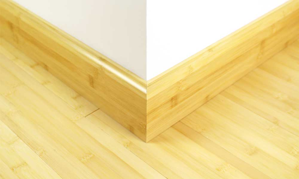 Natural Bamboo 92mm Skirting 1950mm Skirting Board Solid B
