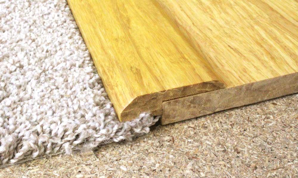 Brushed Natural Strand Woven Bamboo Door Bar Threshold 185