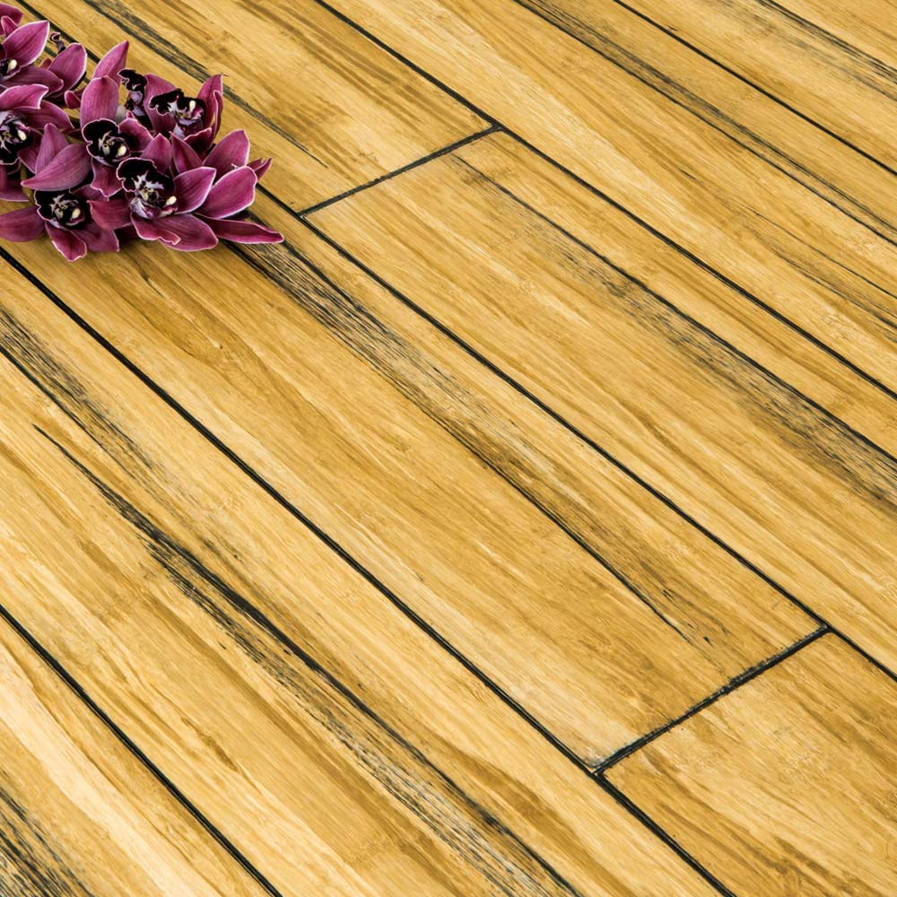 Natural solid strand woven bamboo flooring uniclic floor for Bamboo flooring outdoor decking