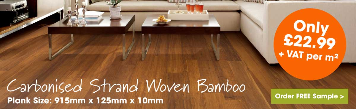 Carbonised strand woven 125m bamboo flooring