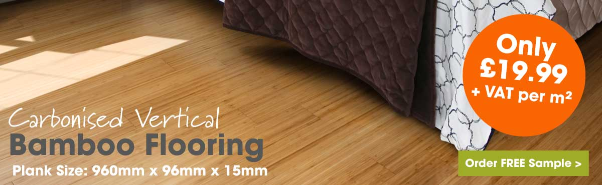 Carbonised vertical bamboo flooring